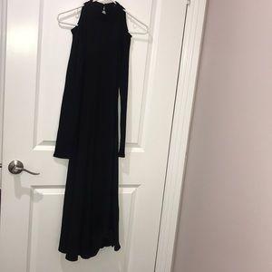 Shein black long sleeves dress, Sz S.